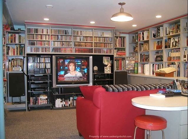 A image of a basement idea for a she shed or woman cave